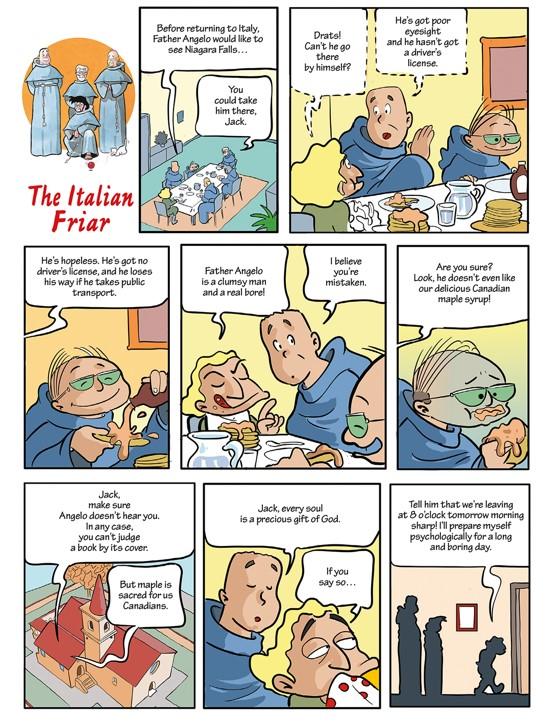 The Italian friar
